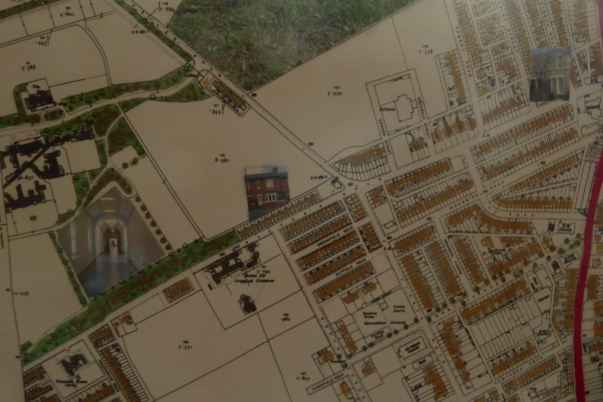 1913 Godfrey map of Gosforth embellished with 'stuff of place'